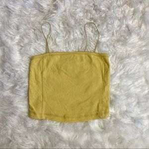 Baby yellow cropped tank
